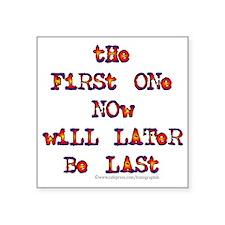 "First Last Square Sticker 3"" x 3"""