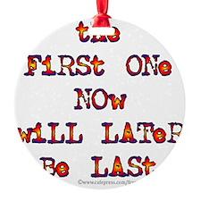 First Last Ornament