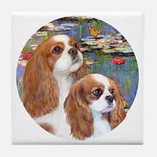 J-ORN-Lilies2-Cavaliers (2BL-A+F) Tile Coaster
