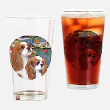 J-ORN-Lilies2-Cavaliers (2BL-A+F) Drinking Glass