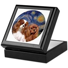 J-ORN-Starry-Two Cavaliers-BL+R Keepsake Box