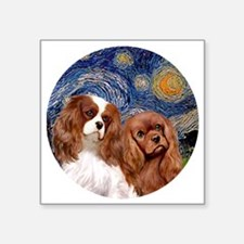 """J-ORN-Starry-Two Cavaliers- Square Sticker 3"""" x 3"""""""