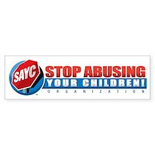 SAYC_horiz_logo Bumper Sticker