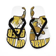 Im Here For The Beer Flip Flops