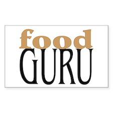 Food Guru Rectangle Decal