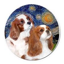 J-ORN-Cavaliers-Two BL Round Car Magnet