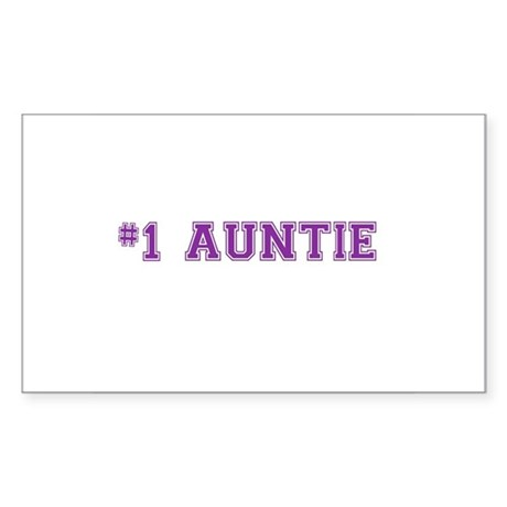 #1 Auntie Sticker