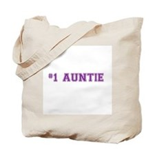 #1 Auntie Tote Bag