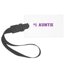 #1 Auntie Luggage Tag