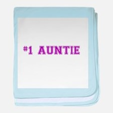 #1 Auntie baby blanket