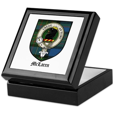 McLaren Clan Crest Tartan Keepsake Box