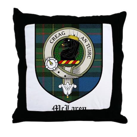 McLaren Clan Crest Tartan Throw Pillow