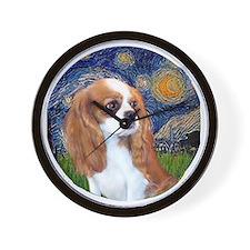 J-ORN-StarryNight-Cavalier-BL-F2 Wall Clock