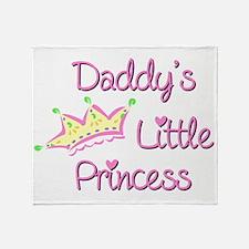 Daddys Little Princess Throw Blanket