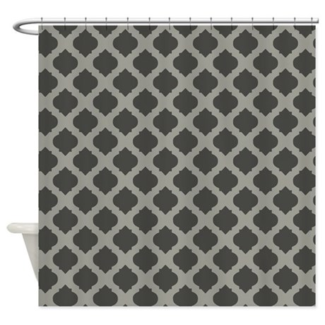 Brown Quatrefoil Pattern On Tan Shower Curtain By Erics Designz