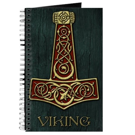 Thors Hammer Red - Viking Large Journal