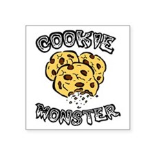 """Cookie Monster Square Sticker 3"""" x 3"""""""
