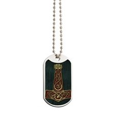 Thors Hammer Red V-Blood Large Dog Tags