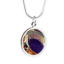 sax Silver Round Necklace