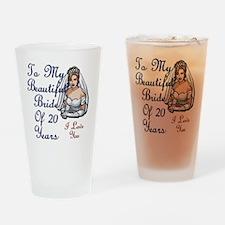 Beautiful Bride 20 Drinking Glass