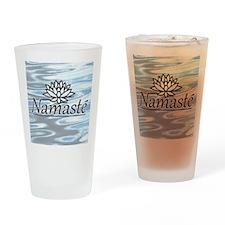 NamasteLotusFocal-waterBG Drinking Glass