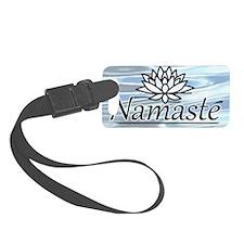 NamasteLotusFocal-waterBG-lowere Luggage Tag