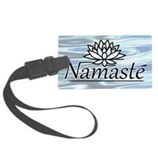 NamasteLotusFocal-waterBG-lowere Luggage Tag