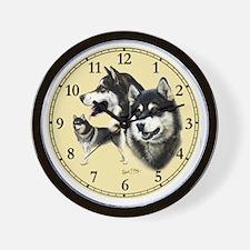 Alaskan Mal Clock Wall Clock