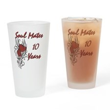 SOUL MATES Red 10 Drinking Glass