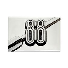 auto-oldsmobile-88-001b Rectangle Magnet