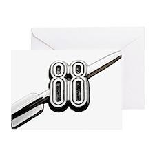 auto-oldsmobile-88-001b Greeting Card