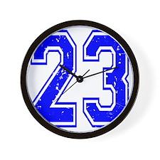 23 Blue Distressed Wall Clock
