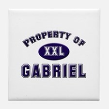 Property of gabriel Tile Coaster