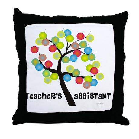 Teachers Assistant Tree Bubbles Throw Pillow