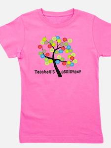 Teachers Assistant Tree Bubbles Girl's Tee