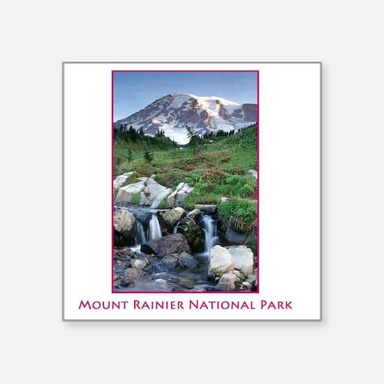 "Rainier Square Sticker 3"" x 3"""
