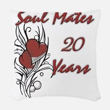 SOUL MATES Red 20 Woven Throw Pillow