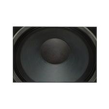 cab12on15g_black_speakloud Rectangle Magnet