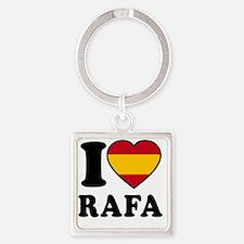 Rafa Flag Square Keychain