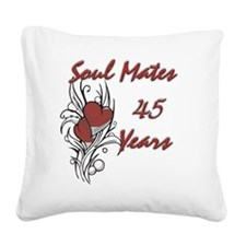 SOUL MATES Red 45 Square Canvas Pillow
