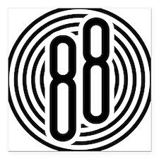 "auto-olds-88-002b-black Square Car Magnet 3"" x 3"""