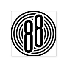 "auto-olds-88-002b-black Square Sticker 3"" x 3"""