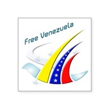"Free Venezuela Final Square Sticker 3"" x 3"""