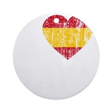 Rafa Faded Flag -dk Round Ornament