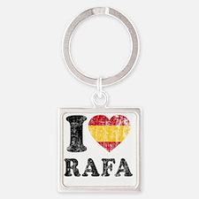 Rafa Faded Flag Square Keychain