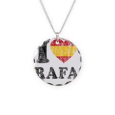 Rafa Faded Flag Necklace Circle Charm
