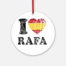 Rafa Faded Flag Round Ornament