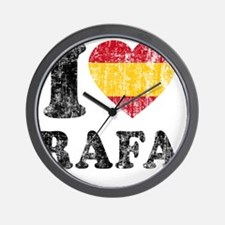 Rafa Faded Flag Wall Clock