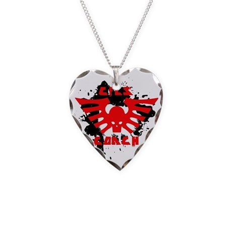 winged skull cfls.egg_f2553 Necklace Heart Charm