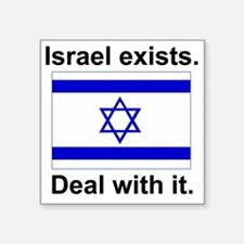 "israelexists1 Square Sticker 3"" x 3"""